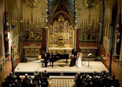 Concert Drongen Sopraan Anne-Sophie Sevens, bas Charles Dekeyser en pianist Peter Jeurissen foto Marc De Bock