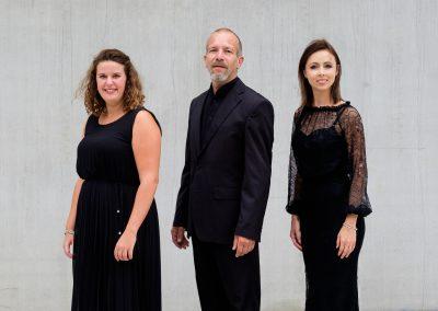 TrioX Sopraan Lisa De Rijcke, pianiste Heidi Kestemont en fluitist Geert Vanden Broeck